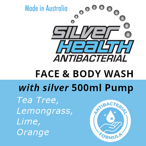 Tea Tree, Lemongrass, Lime & Orange - Face and Body Wash with Silver 500ml