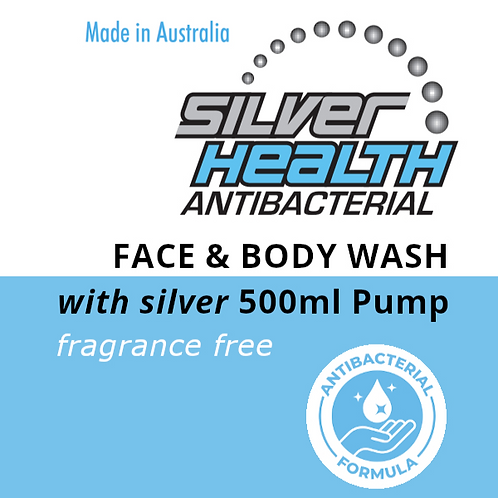 Fragrance Free Face and Body Wash with Silver 500ml