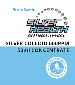 Silver Colloid Travellers' Concentrate 600ppm 50ml
