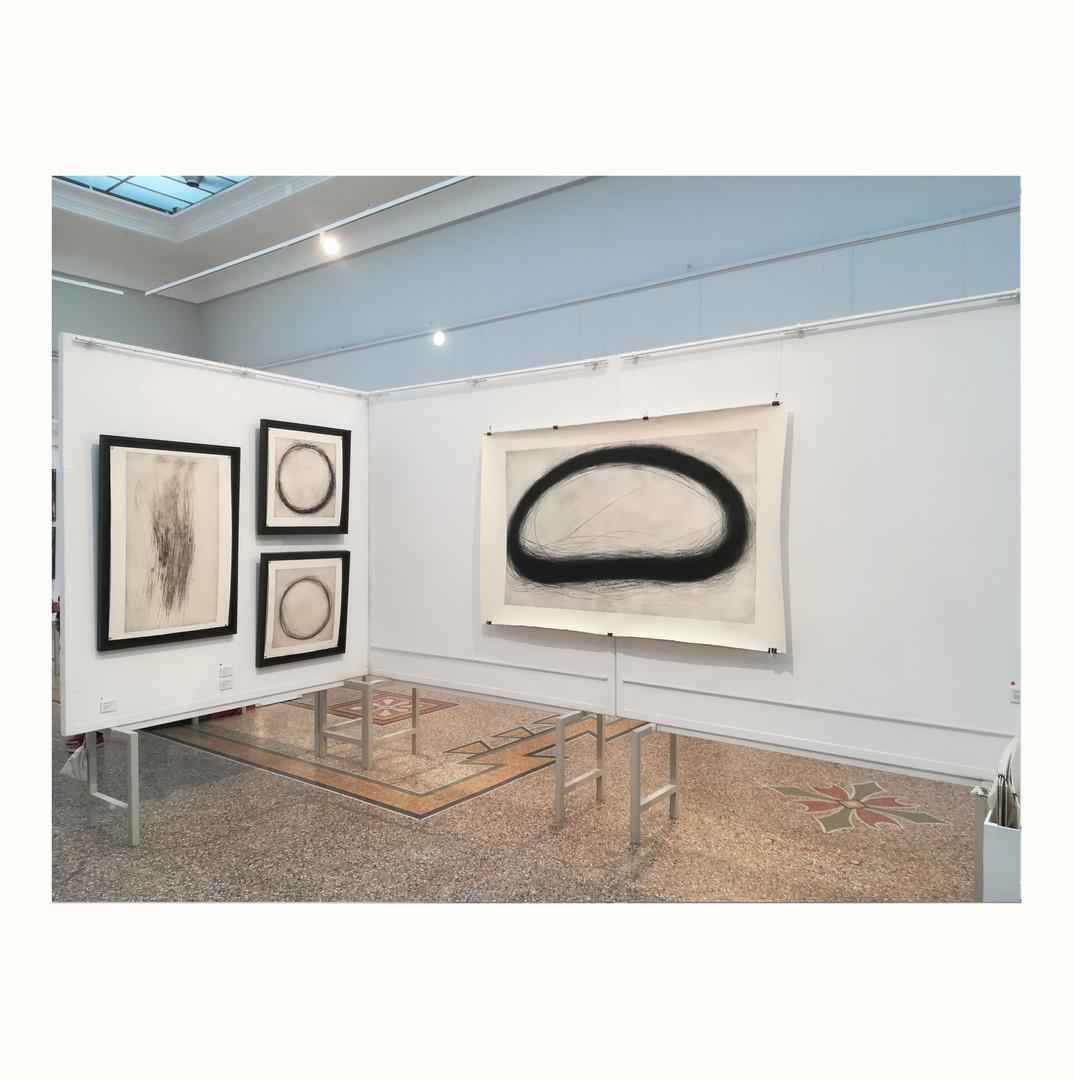 Vue de l'exposition Lyon Art Paper 2018