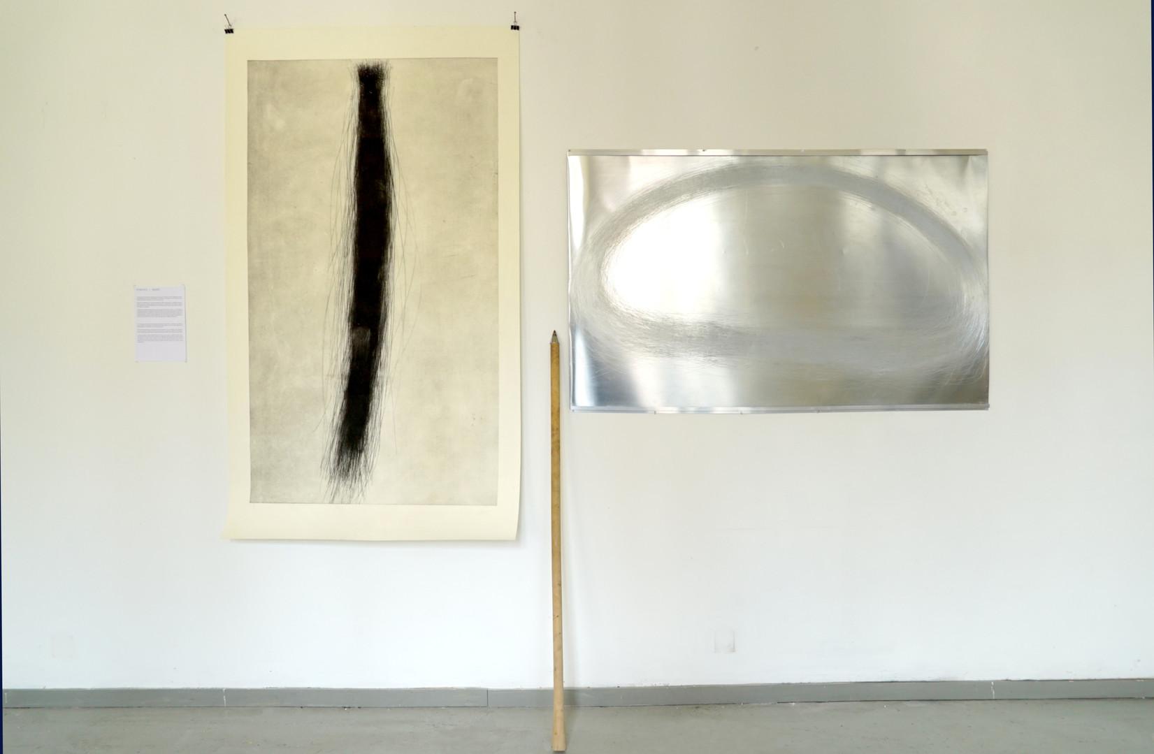 Vue de l'atelier, résidence à la Fondation Moenens, 2017 - Bruxelles
