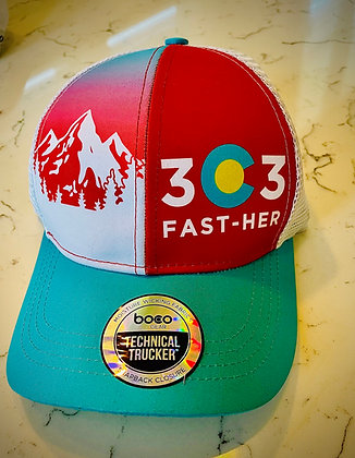303 FastHER Trucker hat