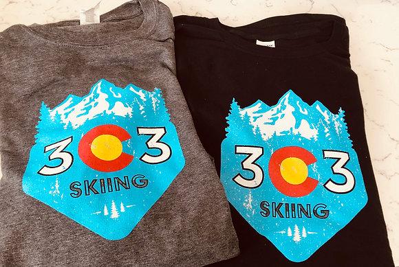 303 Skiing Short Sleeved Tee