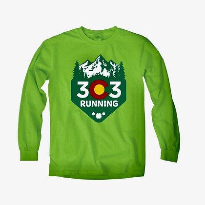 303 Running Shamrock Long Sleeve Tee