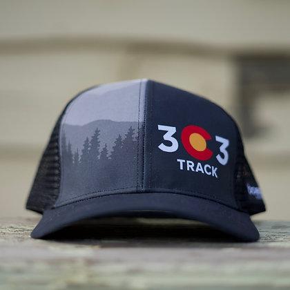303 Track Trucker Cap Black