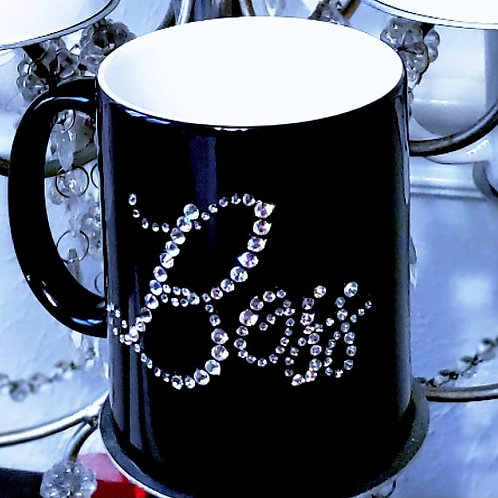 I'm a Boss! Color changing mug, embellished with crystals