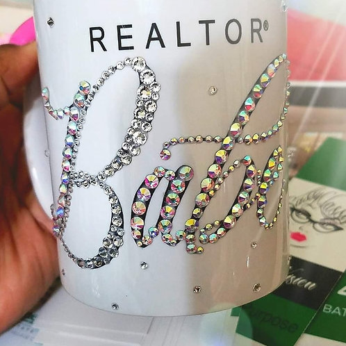 REALTOR babe! Embellished with crystals