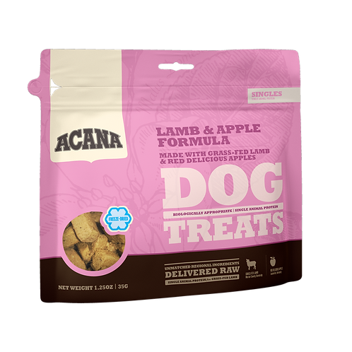 ACANA Singles Freeze-Dried Lamb and Apple Dog Treats, 1.25 oz.