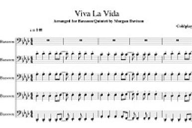 Viva La Vida Arrangement for 5 bassoons