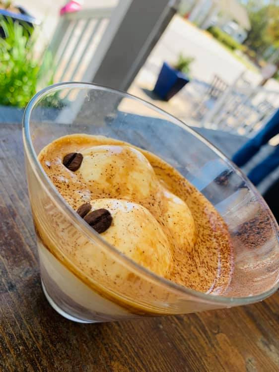 Affogato with housemade ice cream!