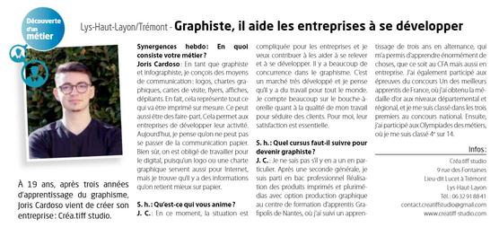 Article Synergences Hebdo - N°581