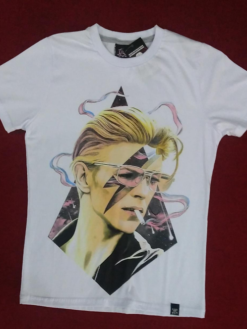 Camiseta David Bowie Desenho Branco Chemical C1719