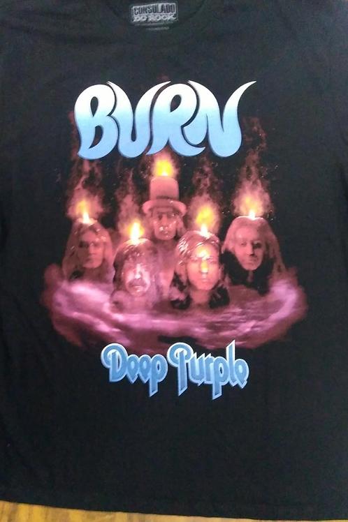 Camiseta Deep Purple Burn Preto Consulado E1074