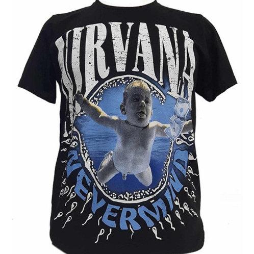 Camiseta Nirvana Nevermind Preto Bomber  BON3