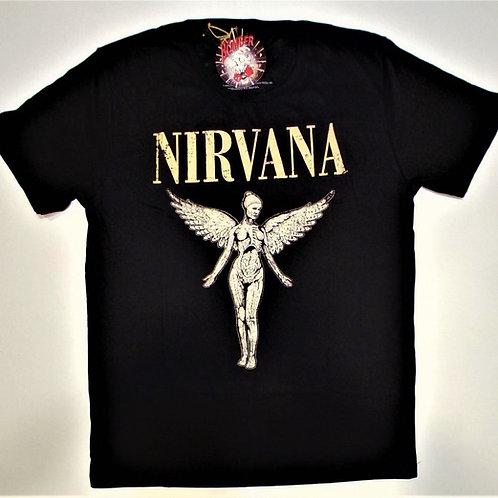 Camiseta Nirvana In Utero Preto Bomber  BON2