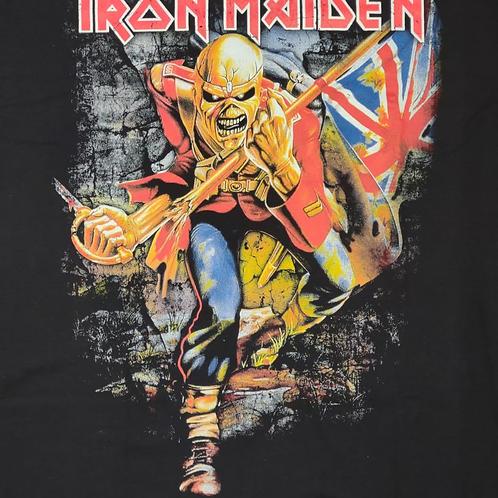 Camiseta Iron Maiden The Trooper Preto Bomber BIM08