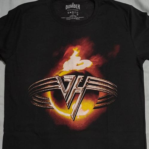 Camiseta Van Halen Logo Preto Bomber BOVH1