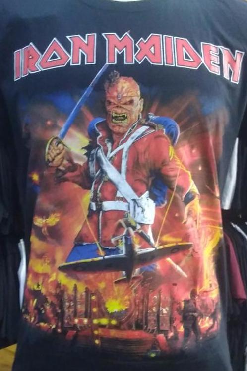 Camiseta Manga Longa Iron Maiden War Legacy  Bomber BLIM5