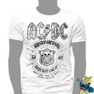 Camiseta AC/DC Concrete Shoes Cinza ou Branco Mr.Baboo MBC02
