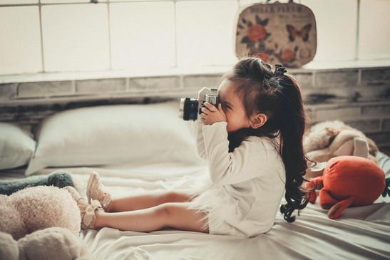 meisje met foto