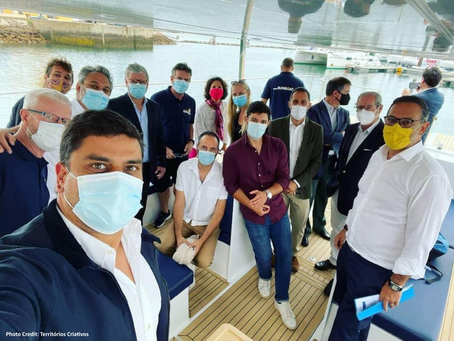 Secretary of State for Tourism visits Electrosolar Catamaran from Algarve SUN BOAT Trips