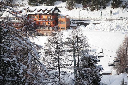 Hotel Via Lattea a CLaviere sulla pista da sci