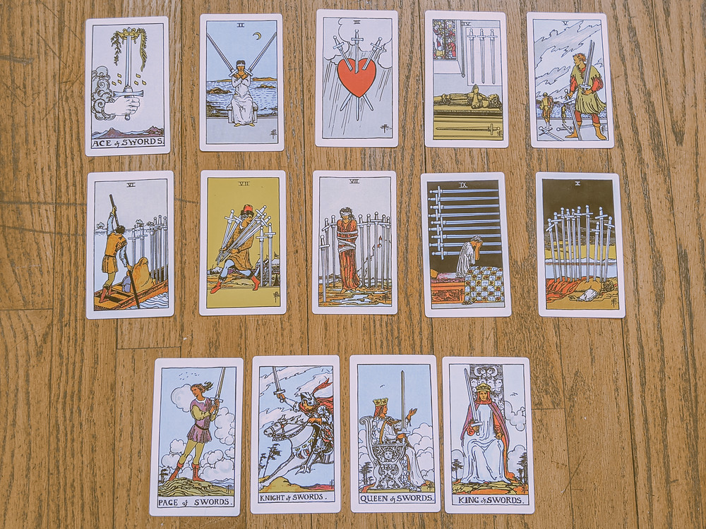 Suit of swords - tarot cards