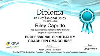 PROFESSIONAL SPIRITUALITY COACH DIPLOMA.