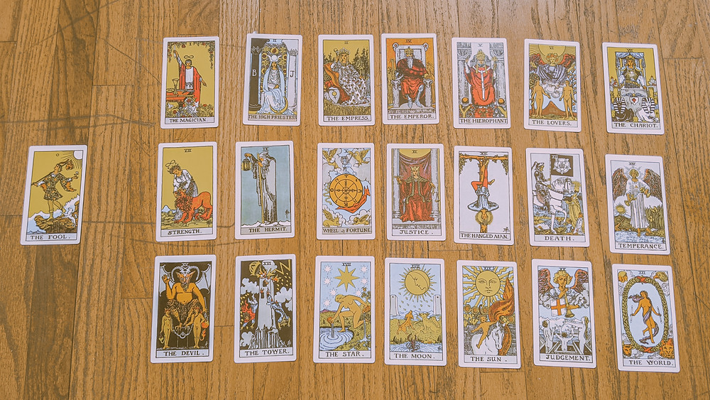 The Fool's Journey - Major Arcana Tarot Cards