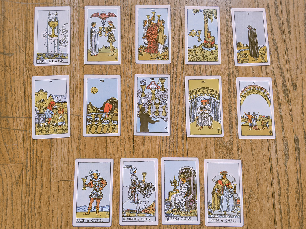 Suit of Cups - tarot cards