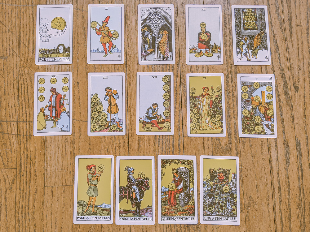 Suit of Pentacles - tarot cards