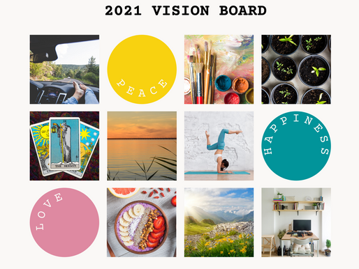 VISION BOARD TEMPLATE FOR AN AWESOME NEW YEAR