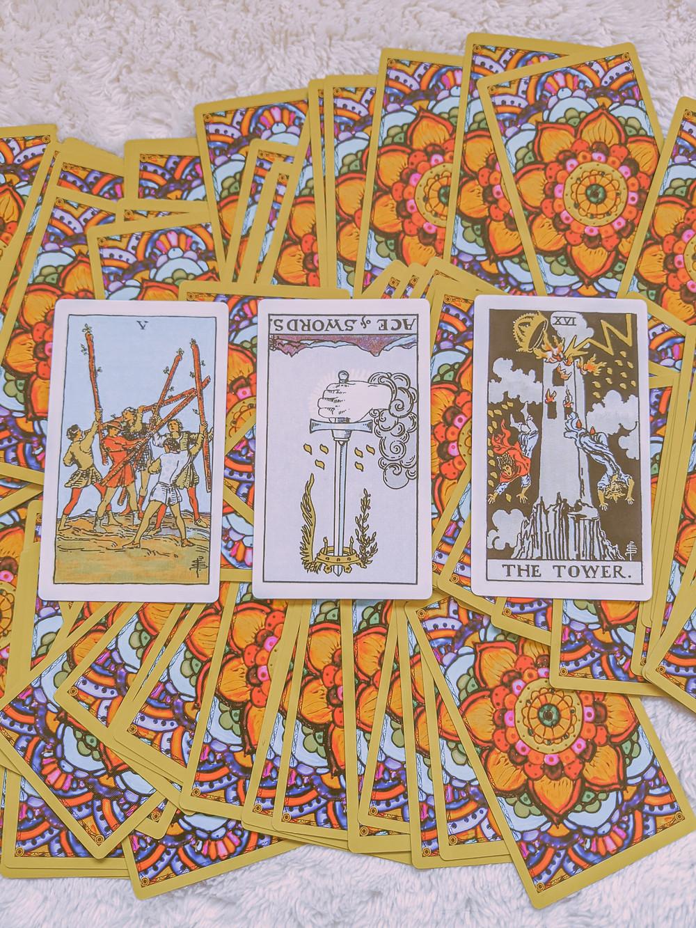 past, present, future tarot card reading