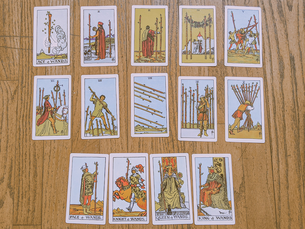 Suit of Wands - tarot cards