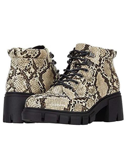 Snakeskin combat boot