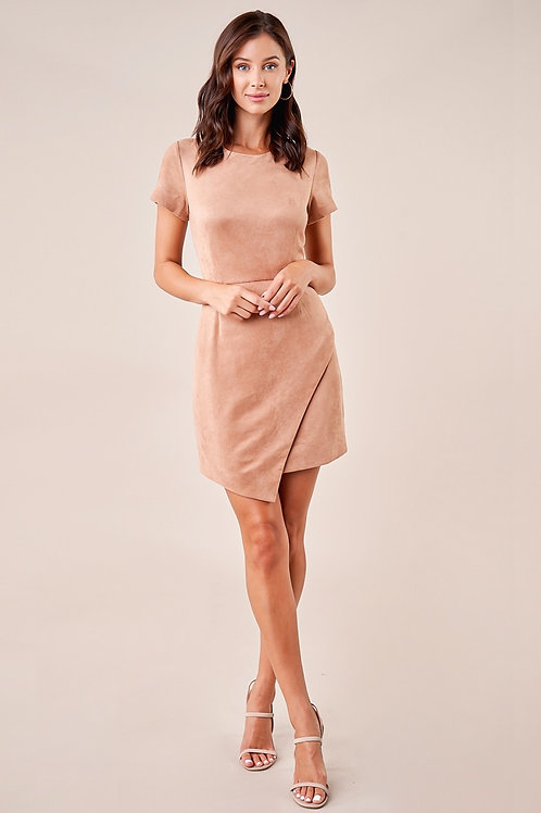 Fallin' in love suede dress