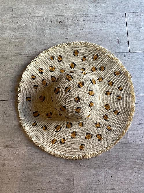Here kitty wide brim beach hat