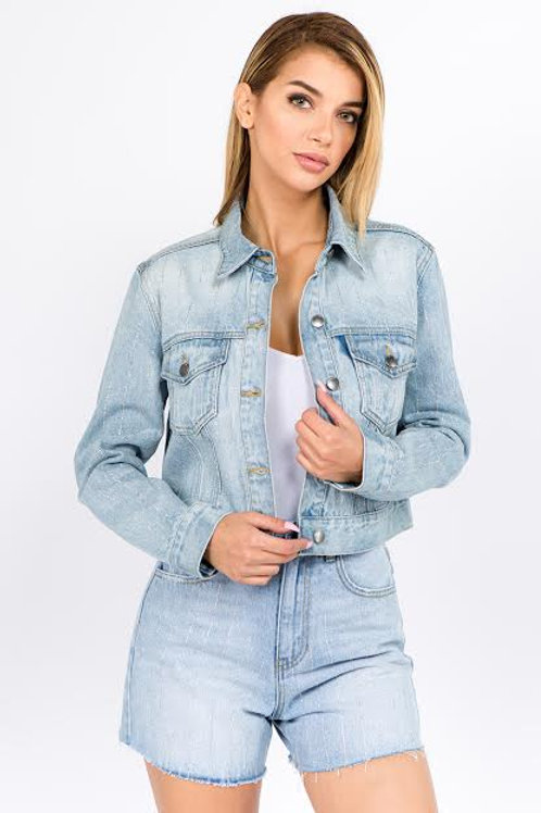 Blingin' denim jacket