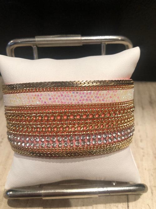 Pink polka dot bracelet