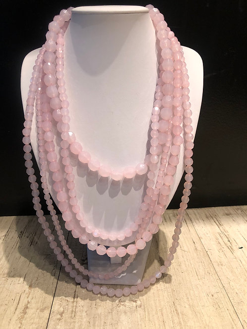 Light pink lucite necklace