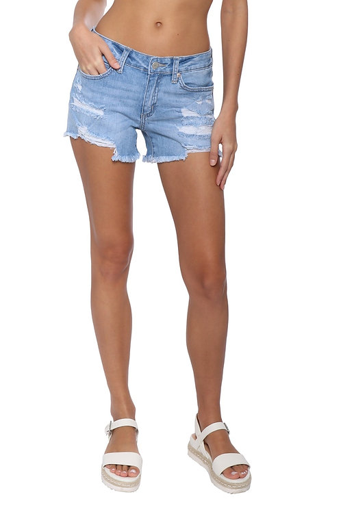 Tudor beach denim shorts
