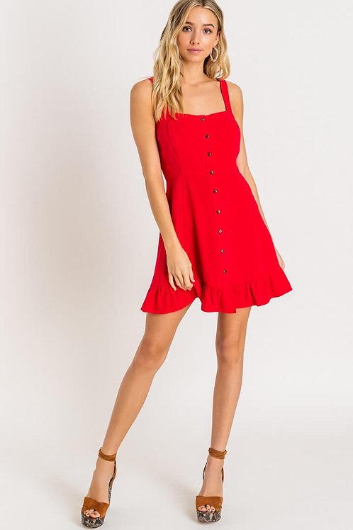 Red hot mini dress