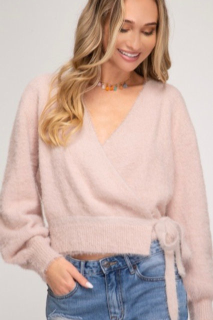 Front wrap sweater