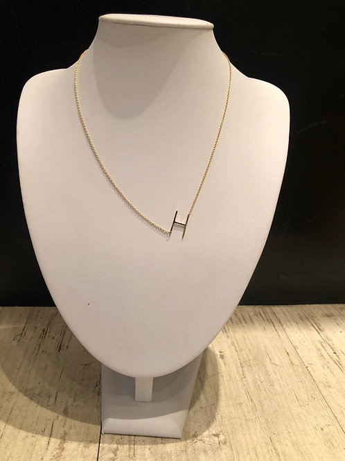 Plain sterling initial necklace