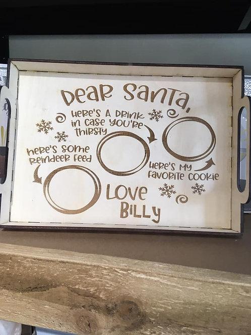 Personalised Santa Tray