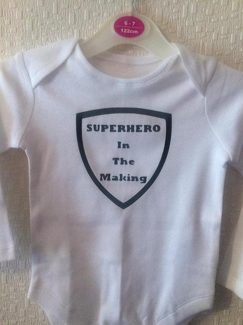 Super Hero Baby Vest