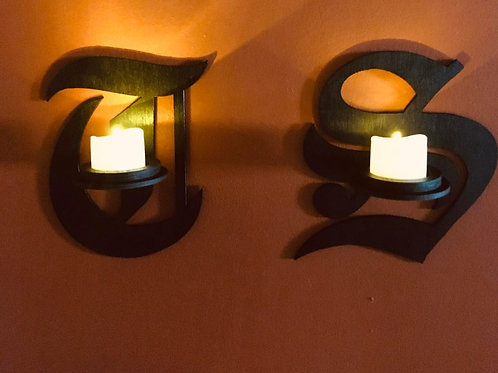 Initial Candle Holder