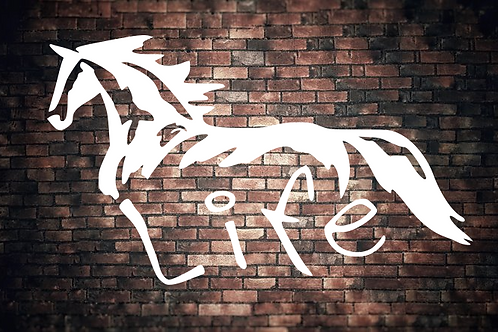 Horse Life Window Decal