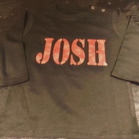 Personalised Camo Print Tshirt