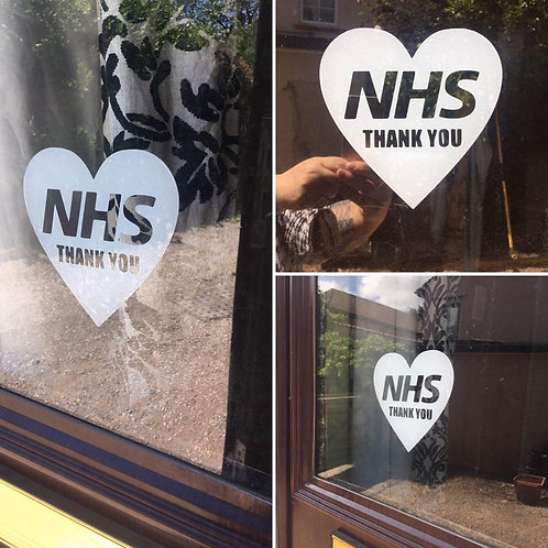 NHS Thank You Window Decal